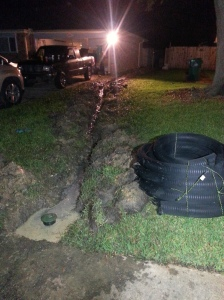 French drain, yard drainage slidell mandeville